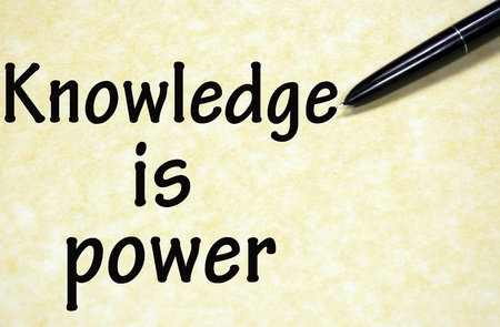 knowledge is power title written with pen on paper Stock Photo - 18815343