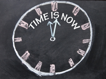 time is now clock  photo