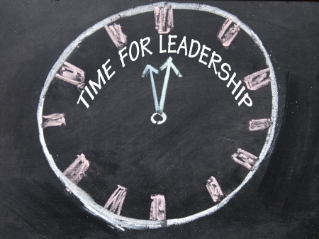 time for leadership clock  photo