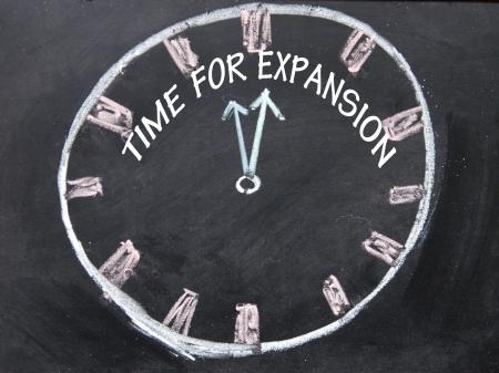 拡大: 拡張時計のための時間 写真素材