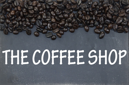 the coffee shop sign photo