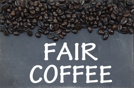 fair coffee sign photo