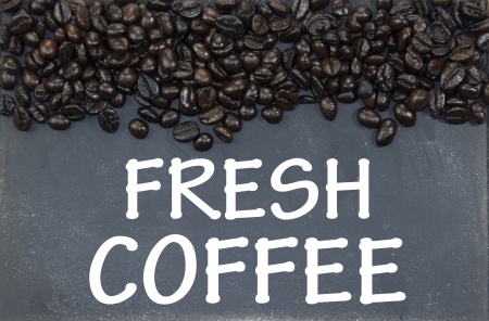 fresh coffee  sign photo