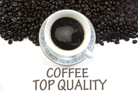 coffee top quality sign photo