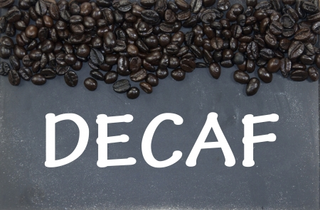 decaf sign photo
