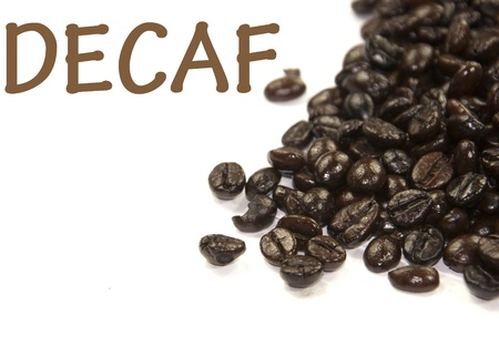 decaf: decaf sign  Stock Photo