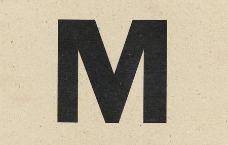 alphabet sign on paperboard