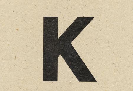 paperboard: alphabet sign on paperboard