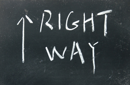 right way sign  photo