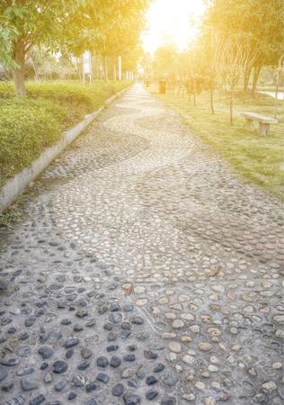 brick road: pebble lane  Stock Photo