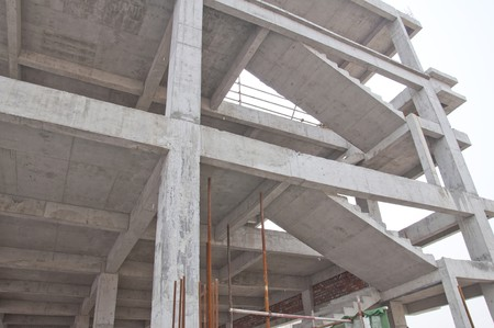concrete stairs: construction site