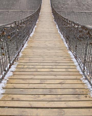 impressive: iron chain bridge Stock Photo