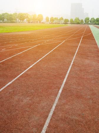contend: Athletics track Stock Photo