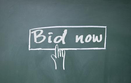bid: finger click bid now symbol
