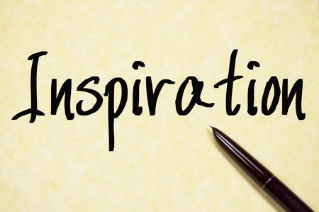 inspiration word write on paper