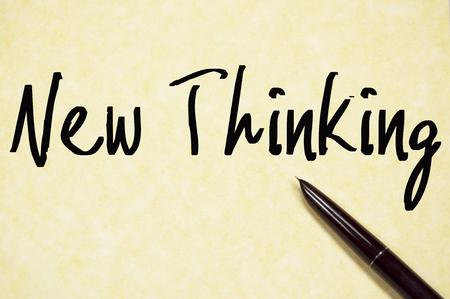 new thinking: nuova scrittura del testo di pensare su carta Archivio Fotografico