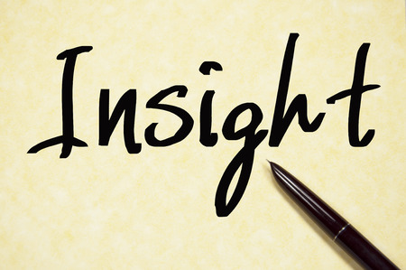 insight word write on paper
