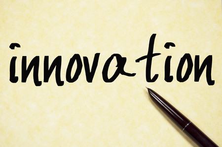 innovation word: innovation word write on paper