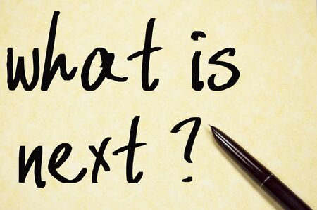 progression: what is next text write on paper