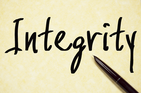 rightness: integrity word write on paper