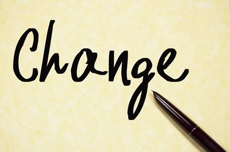 better chances: change word write on paper