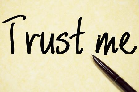 egoistic: trust me text write on paper