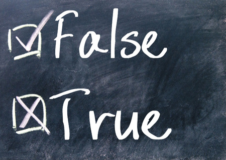 true or false choice on blackboard photo