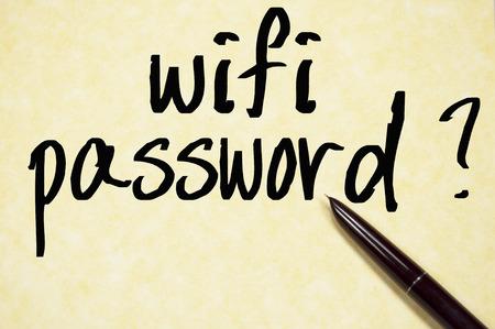 wifi password write on paper