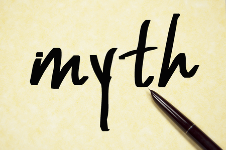 myth: myth word write on paper Stock Photo
