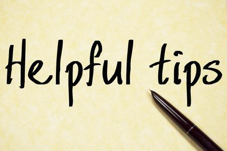 ayudando: consejos �tiles texto de escritura en papel