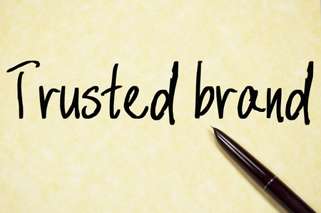 accredit: trusted brand text write on paper