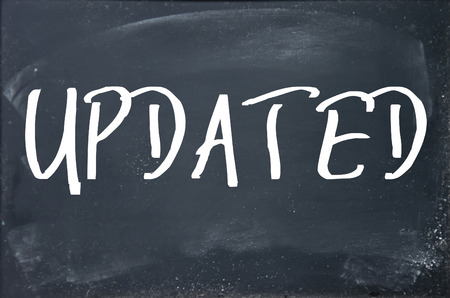 updating: updated word write on blackboard