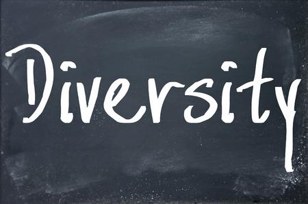 divergence: diversity word on blackboard Stock Photo