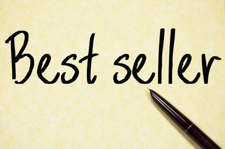 best seller: best seller text write on paper