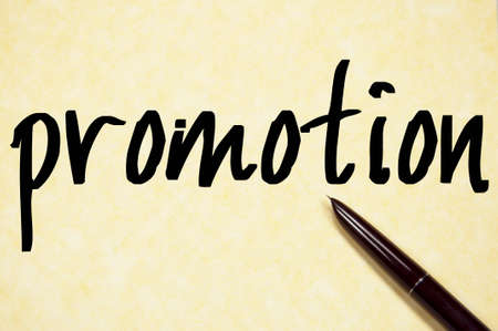 promotion word write on paper