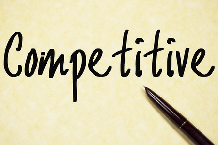 competitive: competitive word write on paper