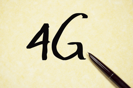 4g: 4G word write on paper