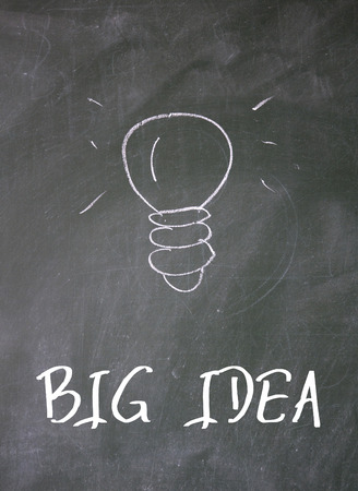 association imagine: big idea text write on paper Stock Photo