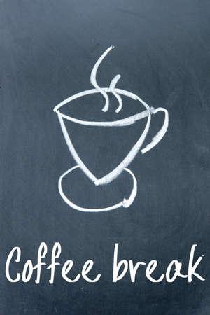 tipple: coffee break sign on blackboard Stock Photo
