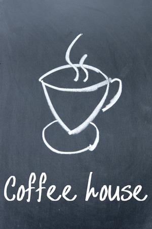 tipple: coffee house sign on blackboard