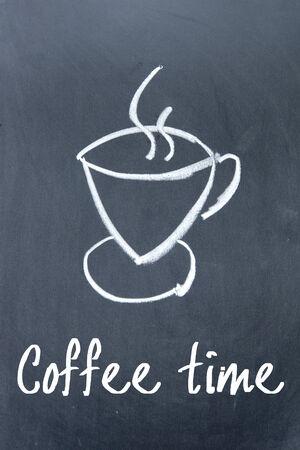 tipple: coffee time sign on blackboard Stock Photo