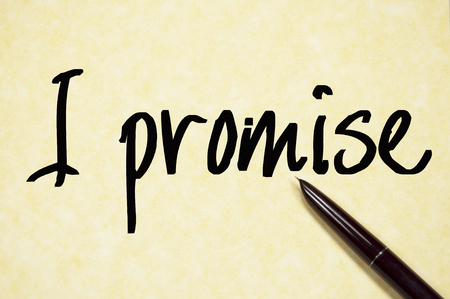promise: I promise text write on paper