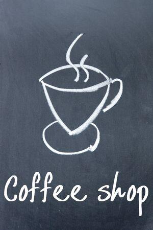 drinkable: coffee shop sign on blackboard Stock Photo