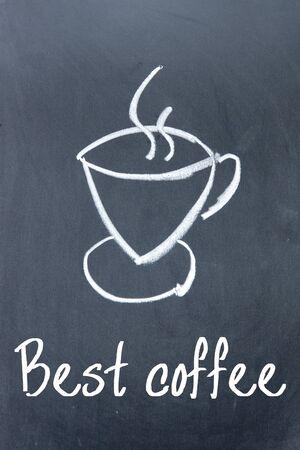 drinkable: best coffee sign on blackboard