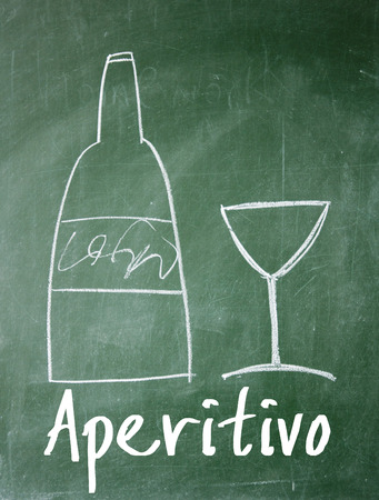 aperitivo sign on blackboard photo