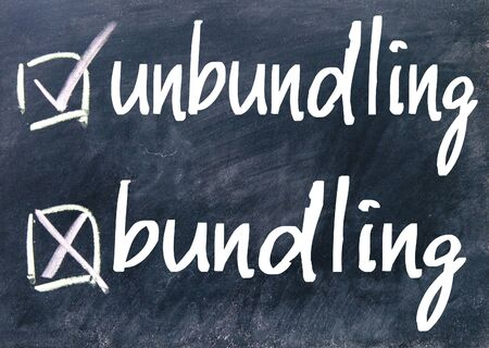 consolidation: unbundling and bundling choice on blackboard