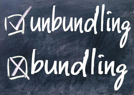 bundling: unbundling and bundling choice on blackboard