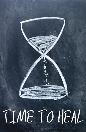 time to heal sign on blackboard