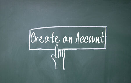 new account: abstract finger click create an account sign on blackboard