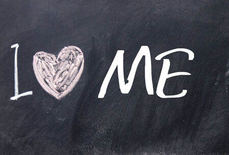 surety: I love me sign on blackboard